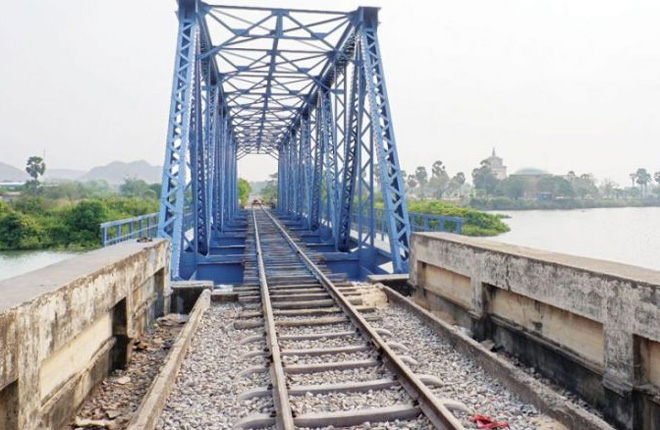 Part of rail link to Thailand complete